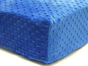 Crib Sheet - Royal Blue Minky Dot