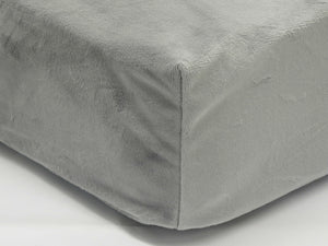 Crib Sheet - Smooth Gray Minky