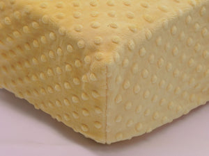 Crib Sheet - Sunshine Yellow Minky Dot