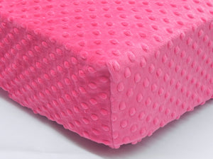 Crib Sheet - Hot Pink Minky Dot