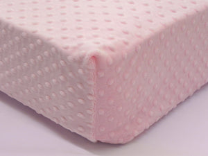 Crib Sheet - Light Pink Minky Dot