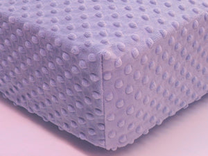 Crib Sheet - Lavender Minky Dot