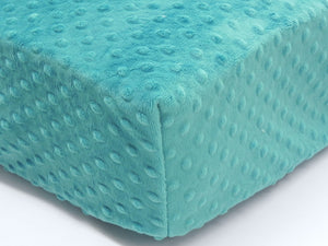 Crib Sheet - Teal Minky Dot