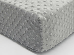 Crib Sheet - Gray Minky Dot