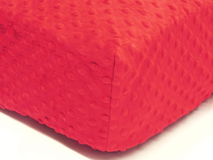 Crib Sheet - Red Minky Dot
