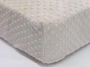 Crib Sheet -Latte Minky Dot