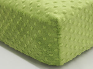 Crib Sheet -  Lime Minky Dot