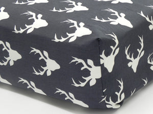Crib Sheet - Buck Head Dark Navy