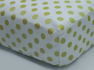 Crib Sheet -Quarter Dots Glitz White