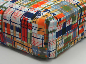Crib Sheet -  Coastal Plaid