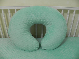 Mint Minky Dot Nursing Pillow Cover