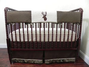 Deer Crib Bedding Set Paxx- Boy Baby Bedding, Camo Baby Bedding