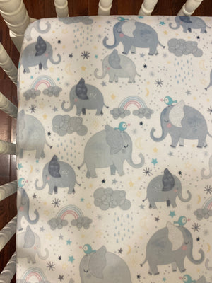 Baby Elephant Crib Bedding Set - Gender Neutral Elephant Baby Bedding