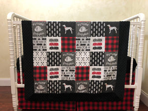 Baby Boy Firefighter Baby Blanket in Red, Black, and Gray