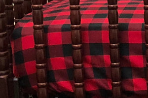 Crib Sheet - Red and Black Plaid