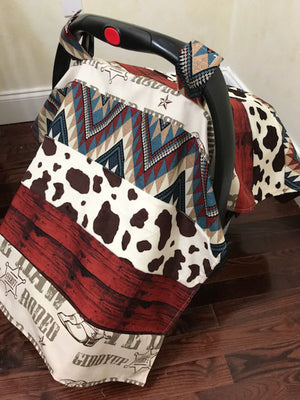 Car Seat Cover - Cowboy with Western Prints