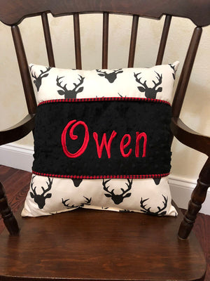 Black Buck With Red Specialty Pillow