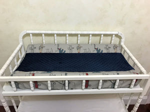 Airplane Crib Bedding Set Benjamin - Boy Baby Bedding, Navy Blue and Gray Airplane Baby Bedding, Crib Bumpers
