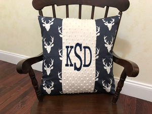 Navy Buck with Ivory Specialty Pillow