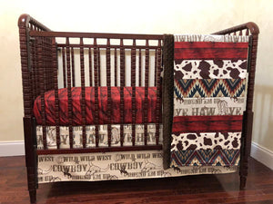 Cowboy Crib Bedding Set - Western Nursery Bedding, Baby Boy Crib Bedding