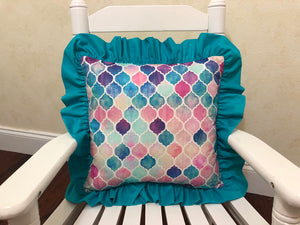 Mermaid Tile Accent Pillow