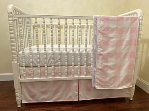 Pink Buffalo Plaid Girl Baby Bedding Set - Buffalo Plaid Crib Bedding , Girl Crib Bedding, Crib Rail Cover Set