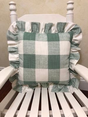Sage Green Buffalo Plaid  Accent Pillow