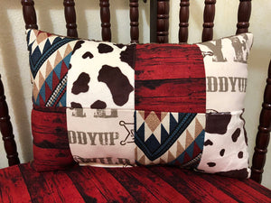 Cowboy Rodeo Patchwork Pillow
