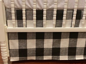 Black Buffalo Plaid Baby Bedding - Black Buffalo Check Crib Bedding Set