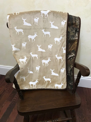 Camo Crib Bedding Set Peyton- Boy Baby Bedding, Deer Crib Bedding