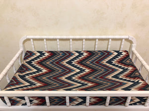 Changing Pad Cover - Western Chevron
