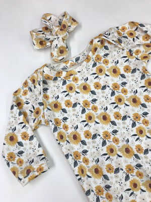 Sunflower Coming Home Infant Newborn Gown