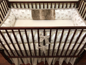 Woodland Nursery Crib Bedding Set - Gender Neutral Baby Bedding, Fawn Crib Bedding