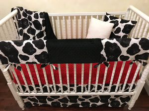 Cow Crib Bedding, Gender Neutral Baby Bedding, Baby Boy Crib Bedding, Baby Girl Crib Bedding