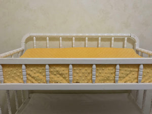 Changing Pad Cover - Sunshine Yellow Minky Dot