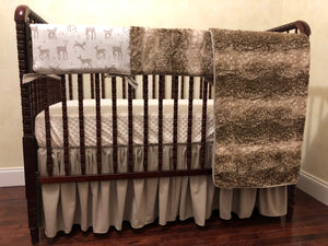 Woodland Nursery Crib Bedding Set - Gender Neutral Baby Bedding, Baby Boy Crib Bedding, Baby Girl Crib Bedding