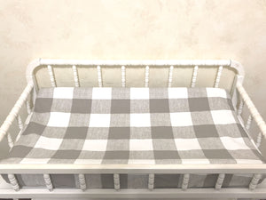 Changing Pad Cover - Taupe, Khaki Buffalo Plaid