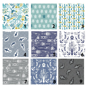 Organic Cotton Nautical Nursery Crib Sheet