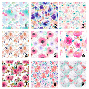 Organic Cotton Floral Changing Pad Cover