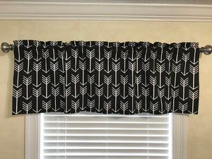 Window Valance - Black Arrow