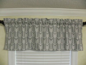 Window Valance - Gray Arrow