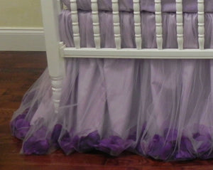 Girl Baby Bedding Set Giselle Lavender - Princess Crib Bedding, Ballerina Baby Bedding, Lavender Crib Bedding