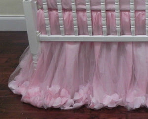 Pink Crib Bedding Set Giselle - Ballerina Crib Bedding, Princess Baby Bedding, Girl Crib Bedding Set