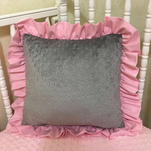 Woodland Girl Crib Bedding Set Kylie, Girl Deer Baby Bedding, Pink and Gray Woodland Baby Bedding