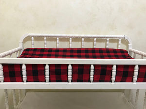 Changing Pad Cover - Red and Black Plaid