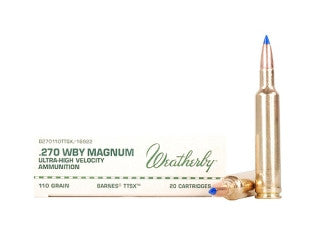 Weatherby 270WBY 110GR Rifle Ammo