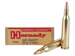 Hornady 220 Swift, V-MAX, 55GR Varmint Express