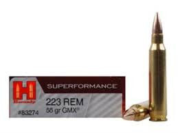 Hornady 223REM, GMX, 55GR Superformance