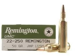 Remington 22-250REM, JHP, 50GR UMC Rifle