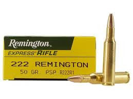 Remington 222REM, PSP, 50GR Standard